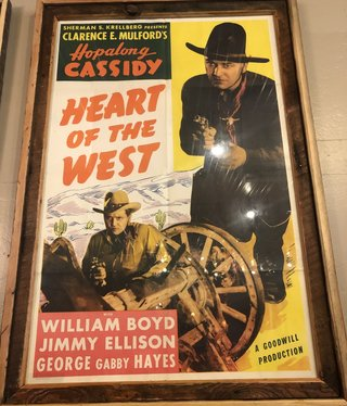 """Jerry Curtis """"Heart of the West"""" Old Movie Poster Art - 31x44.5"""