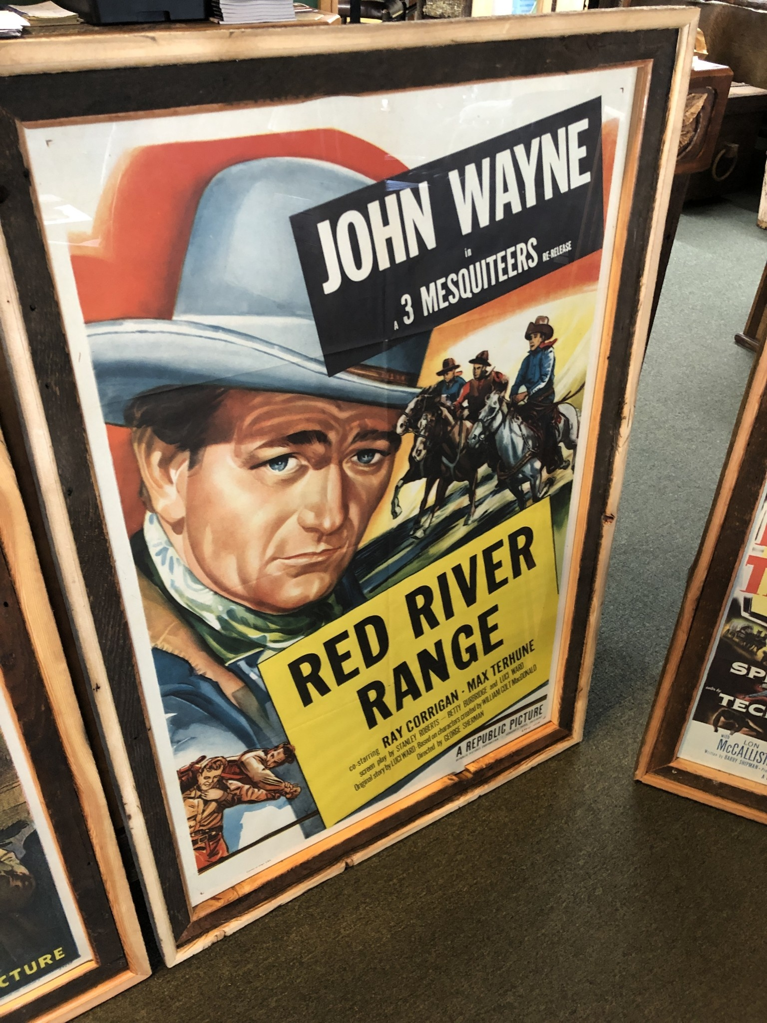 """Jerry Curtis """"Red River Range"""" Old Movie Poster Art - 30.5x45"""