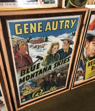 """Jerry Curtis """"Blue Montana Skies"""" Old Movie Poster Art - 31x45"""