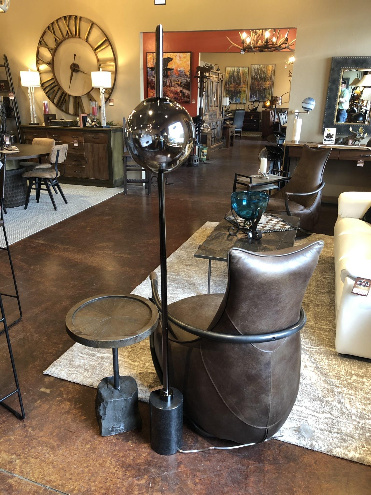 Crestview Averitt Plated Glass Orb Floor Lamp