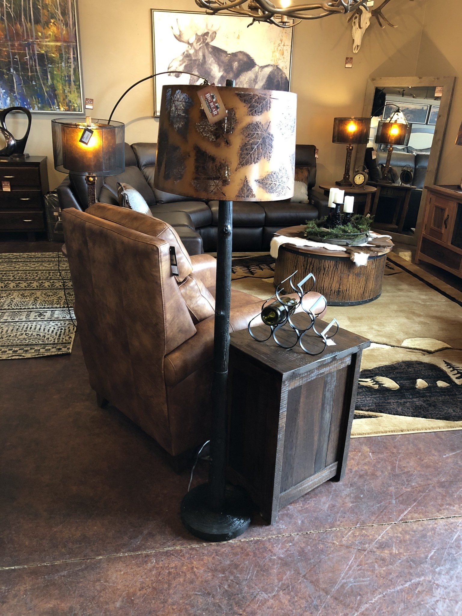 Crestview Birch Forest Floor Lamp