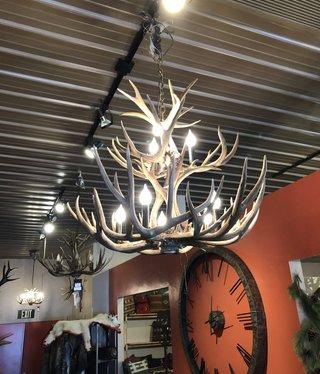 Fish 8 Light 2 Tier Mule Deer Chandelier