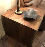 HTD Leon Walnut Side Table 22x27x24