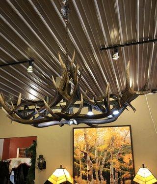 Fish 5 Light Elk Oblong Bar Light