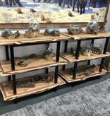 Rusty X Medium Handblown Glass Bowl/Gamal Root Base