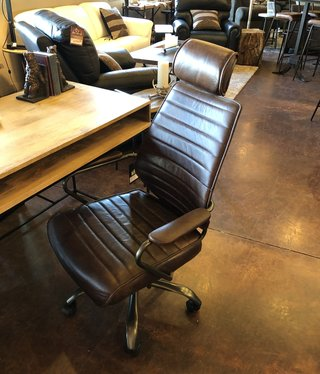 Moes Executive Office Chair, Brown leather