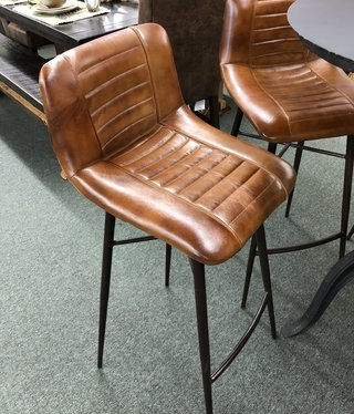 HTD Riviera - Iron Leather BAR Height Stool