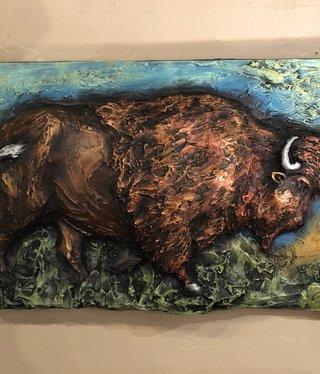 """Artisans Buffalo Plaque 24"""" x 16"""""""