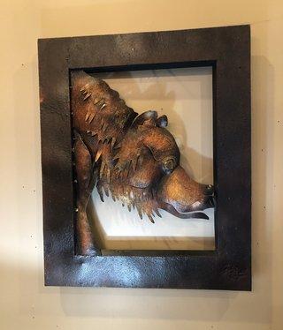 Artisans Metal Bear Art