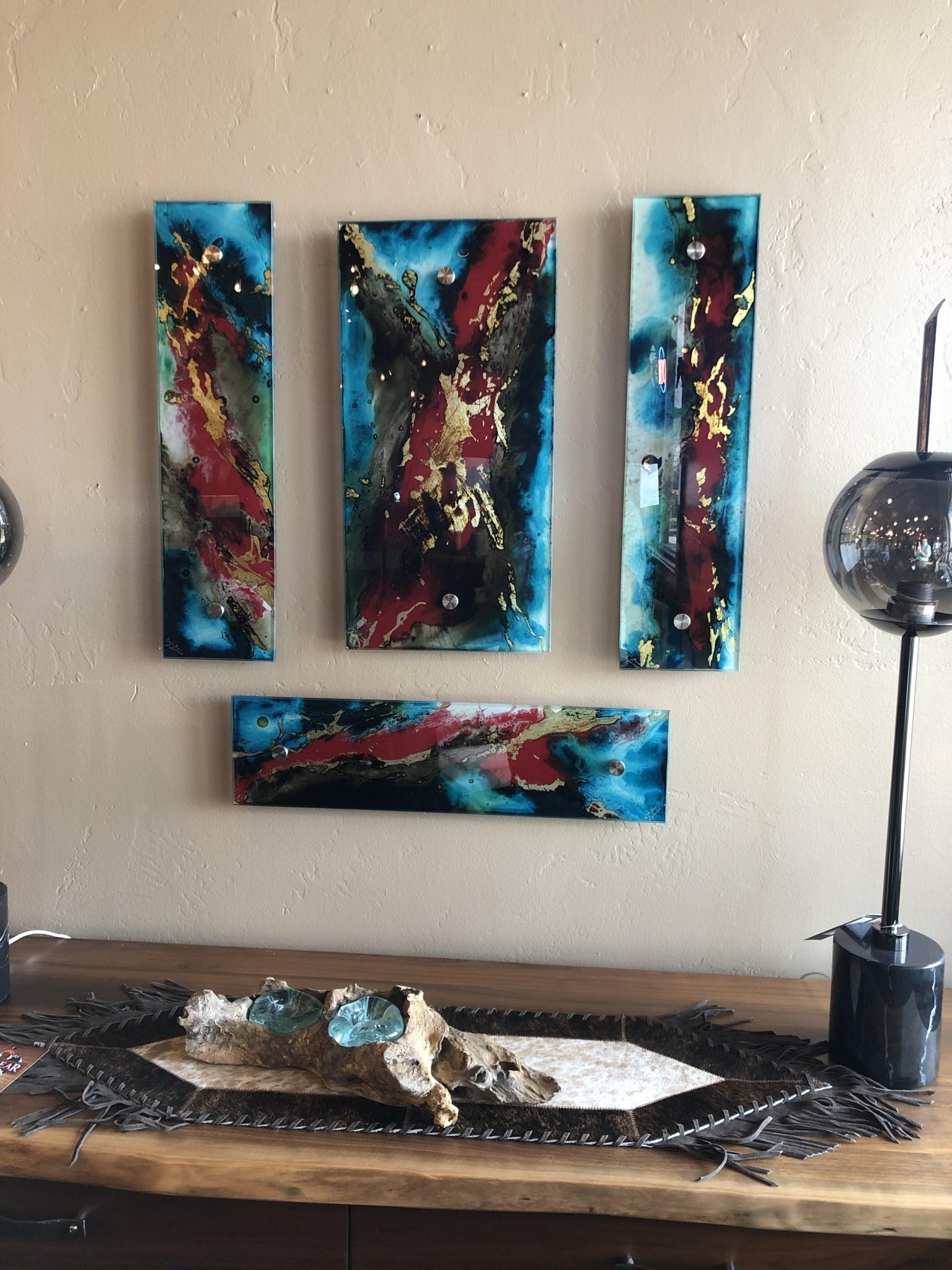 """Artisans Rectangle Glass Wall Art  6""""x24"""""""