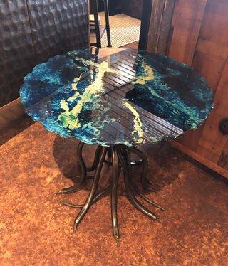 Artisans Sergio Bueno Painted Table