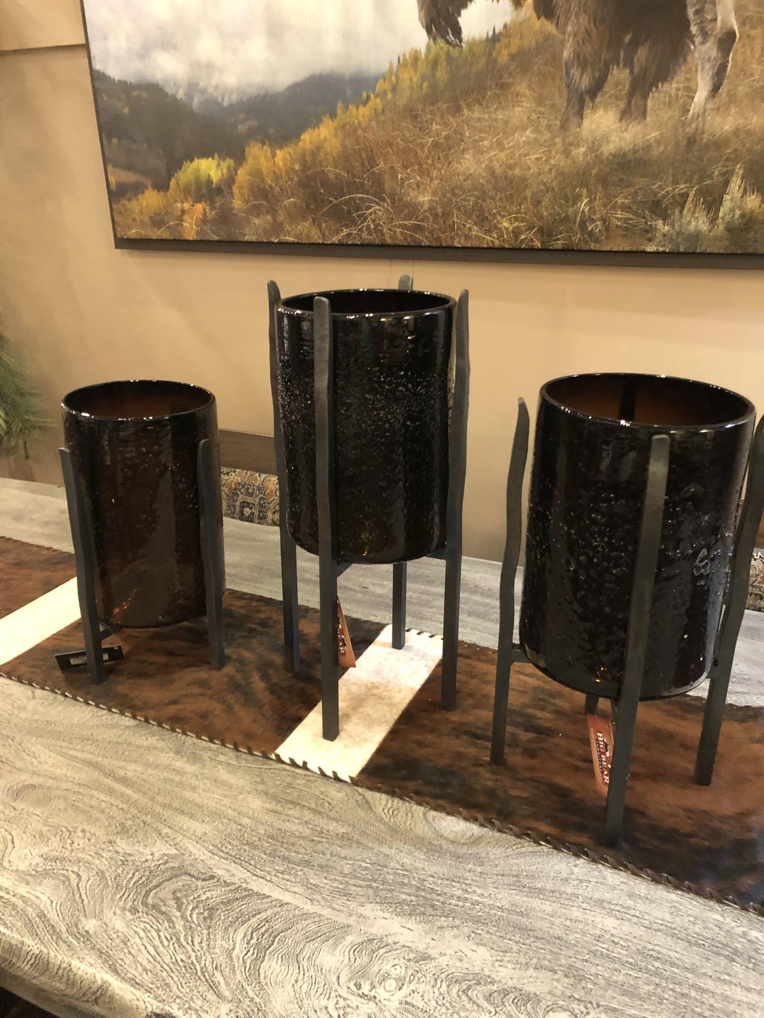 Artisans Torre Base w/Smoked Cylinder Base--LARGE