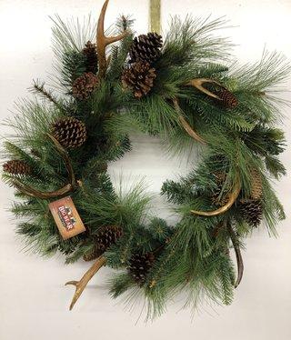 Sullivans Pine/Antler Wreath