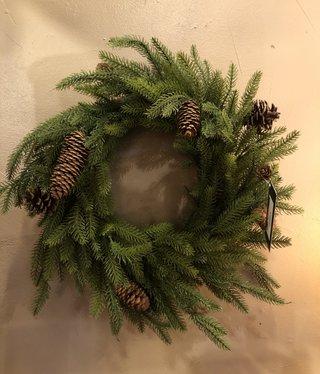 "Sullivans Pinecone Wreath 24""D  (WR883)"