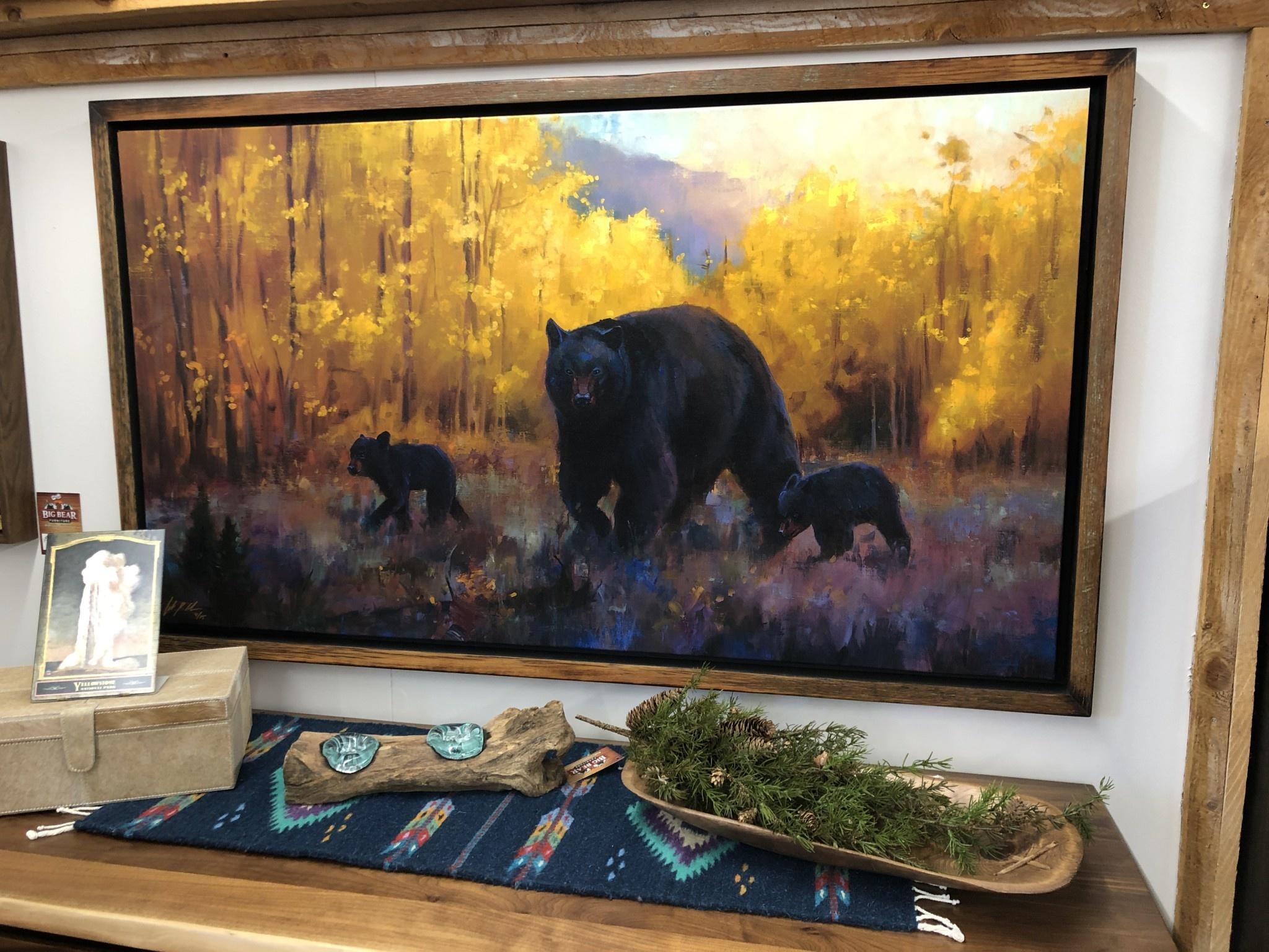 Colt Idol Fall Prestige Framed 57.75 x 33.75 (Bear & Cubs)