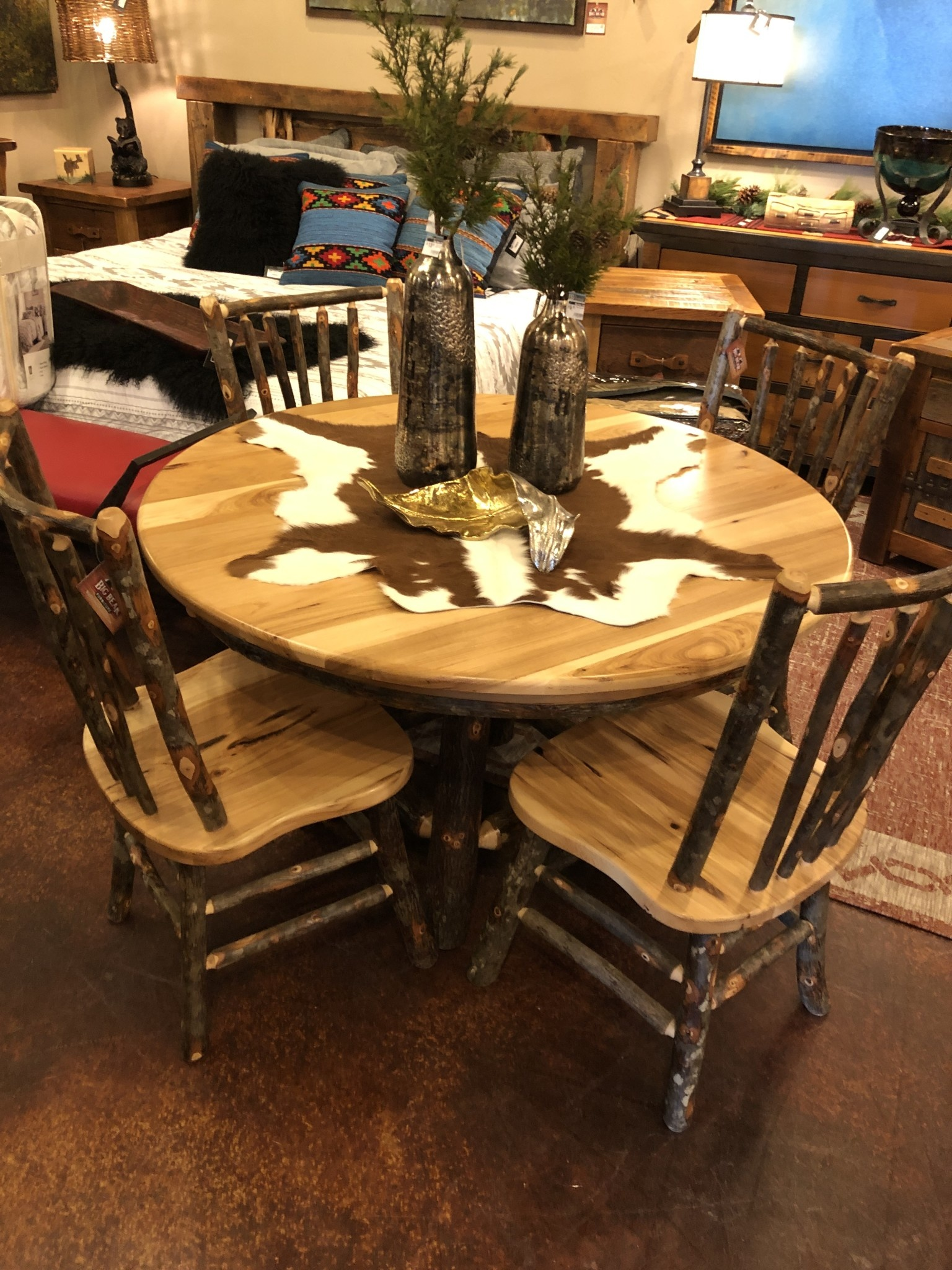 """ALBC 48"""" Hickory Round Table SO"""