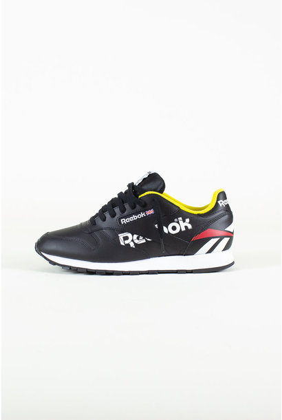 Reebok Classic Leather - Black/White/PriRed