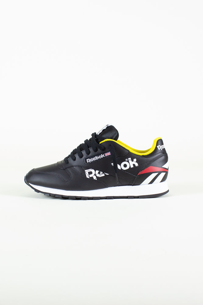 Reebok Classic Leather - Black/White/PriRed-1