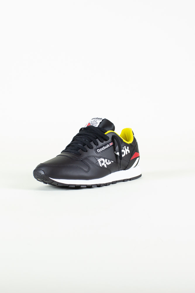 Reebok Classic Leather - Black/White/PriRed-3
