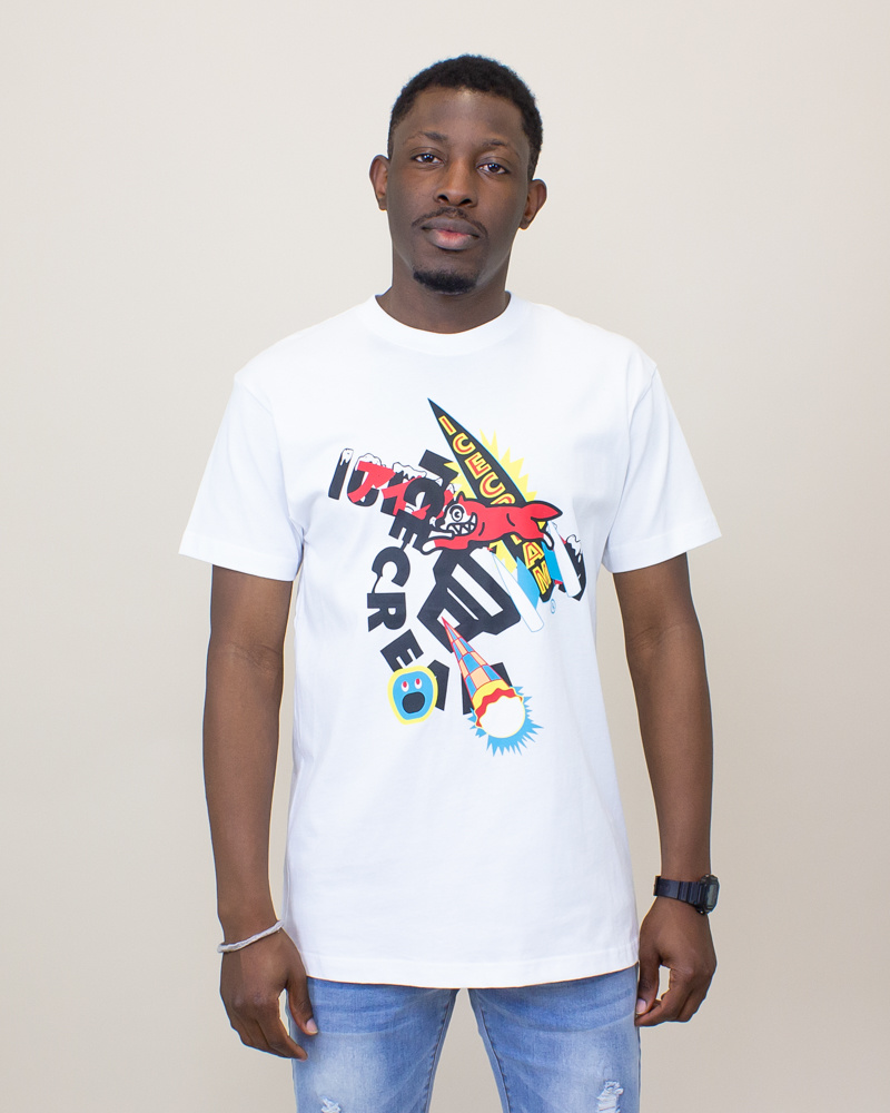 Icecream YBYB SS Tee - White-1