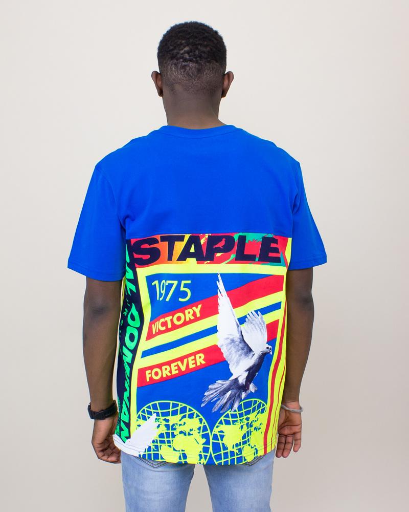 Staple Daybreak Graphic Tee - Blue-2