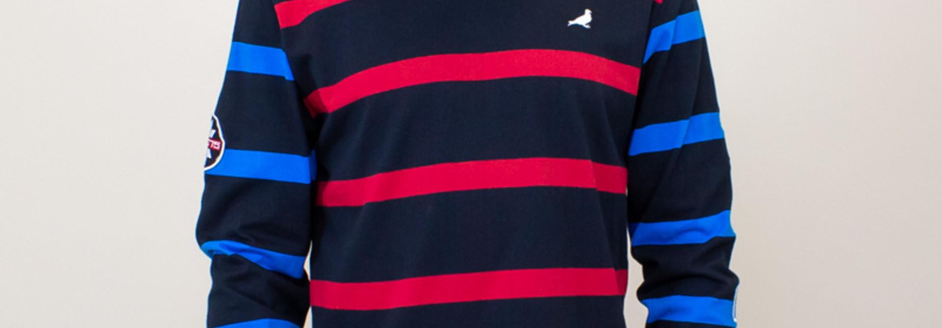Staple Ski Stripe L/S Knit - Black