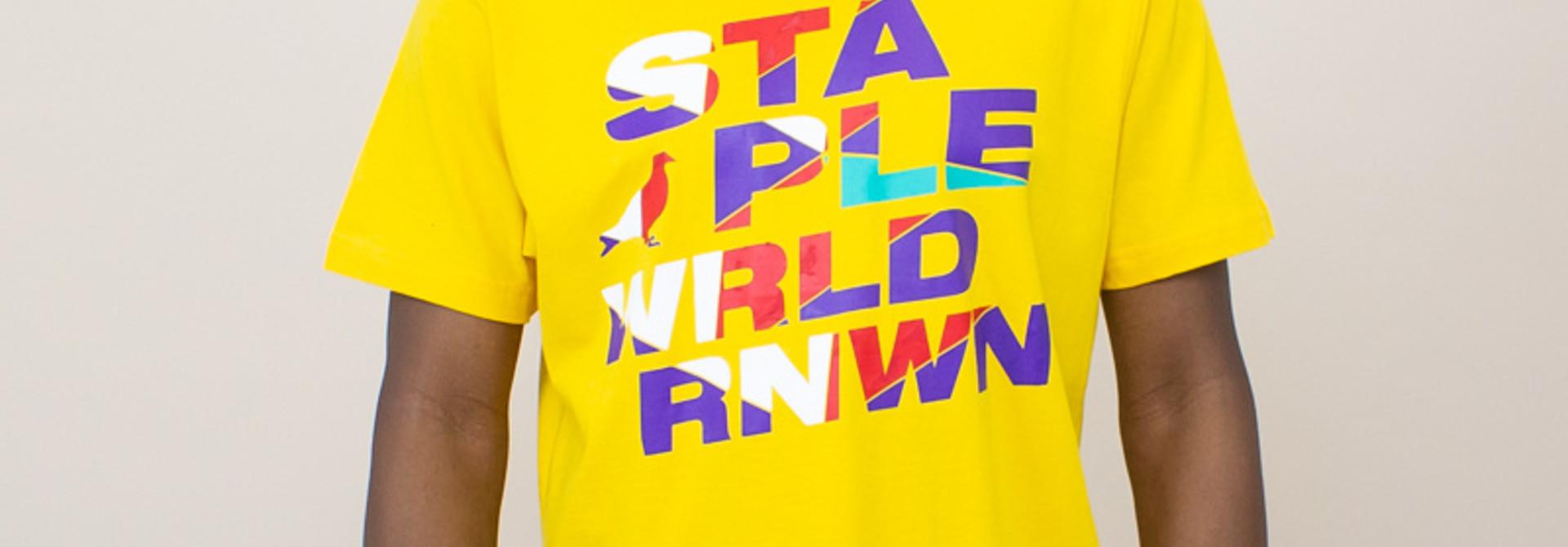 Staple Wrld Logo Tee - Mango