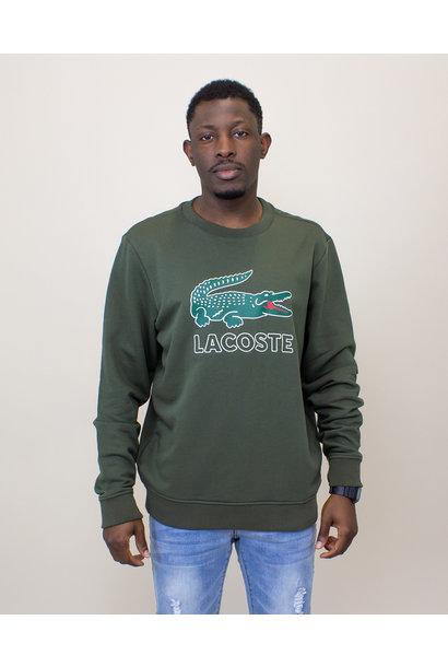 Lacoste Big Croc Sweatshirt - Olive