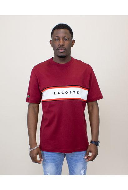 Lacoste Crewneck Cotton Shirt - Bordeaux