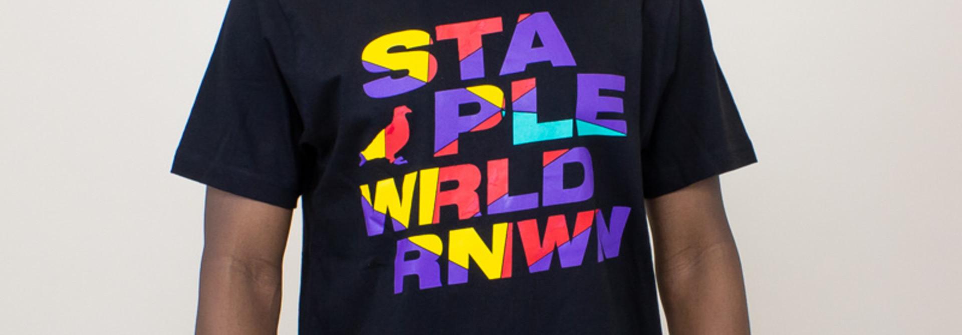 Staple Wrld Logo Tee - Black