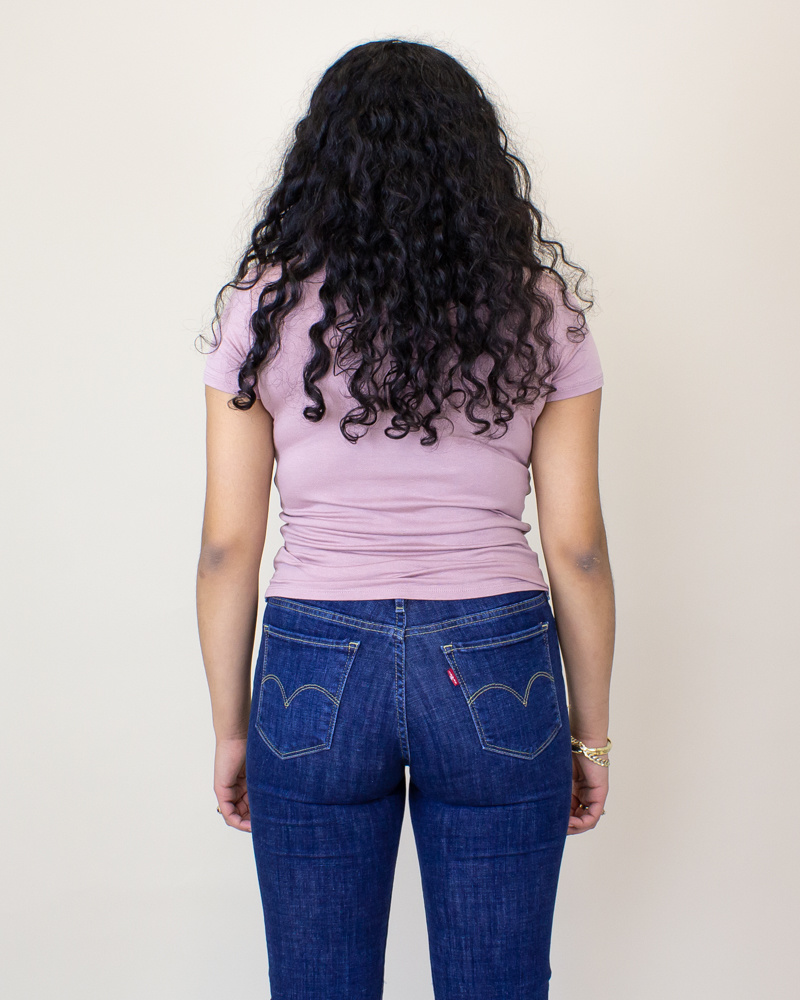 Double Zero Crop Top Shirt - Dusty Pink-2