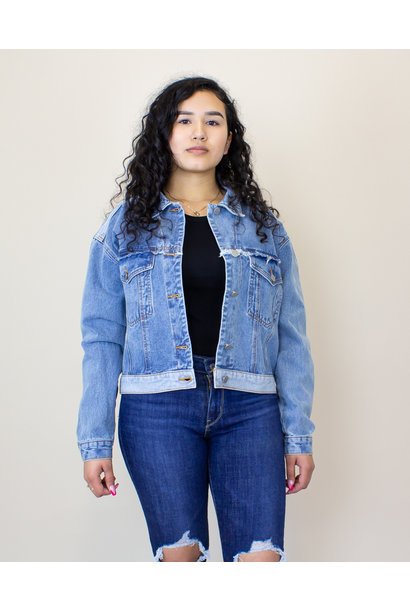 Polagram + Baevely Denim Jacket - Denim