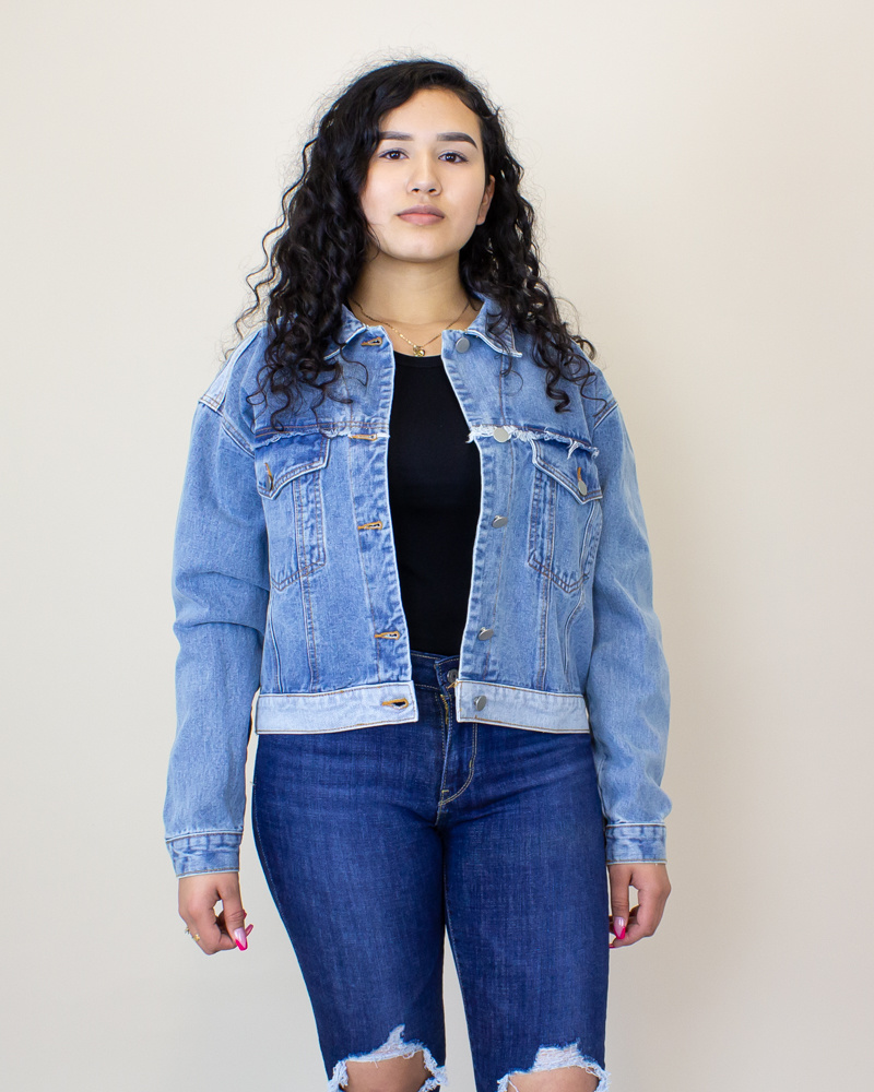 Polagram + Baevely Denim Jacket - Denim-1