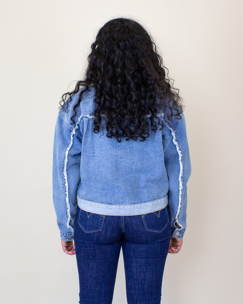 Polagram + Baevely Denim Jacket - Denim-2