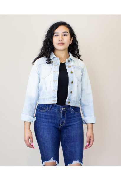 Mono B Short Light Denim Jacket