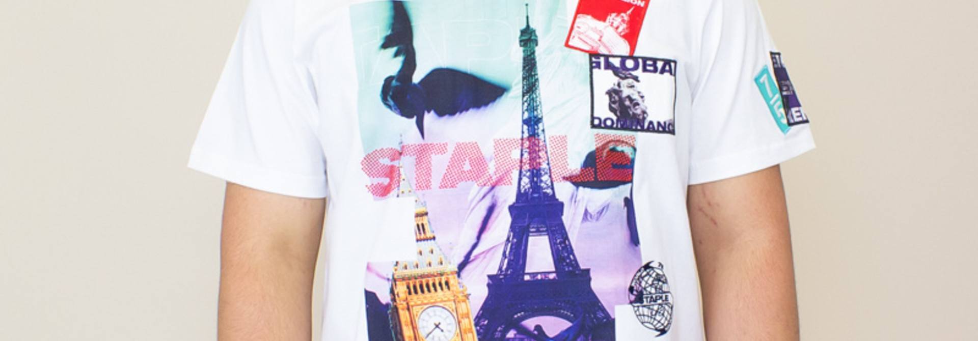 Staple Wrld Collage Photo Tee - White