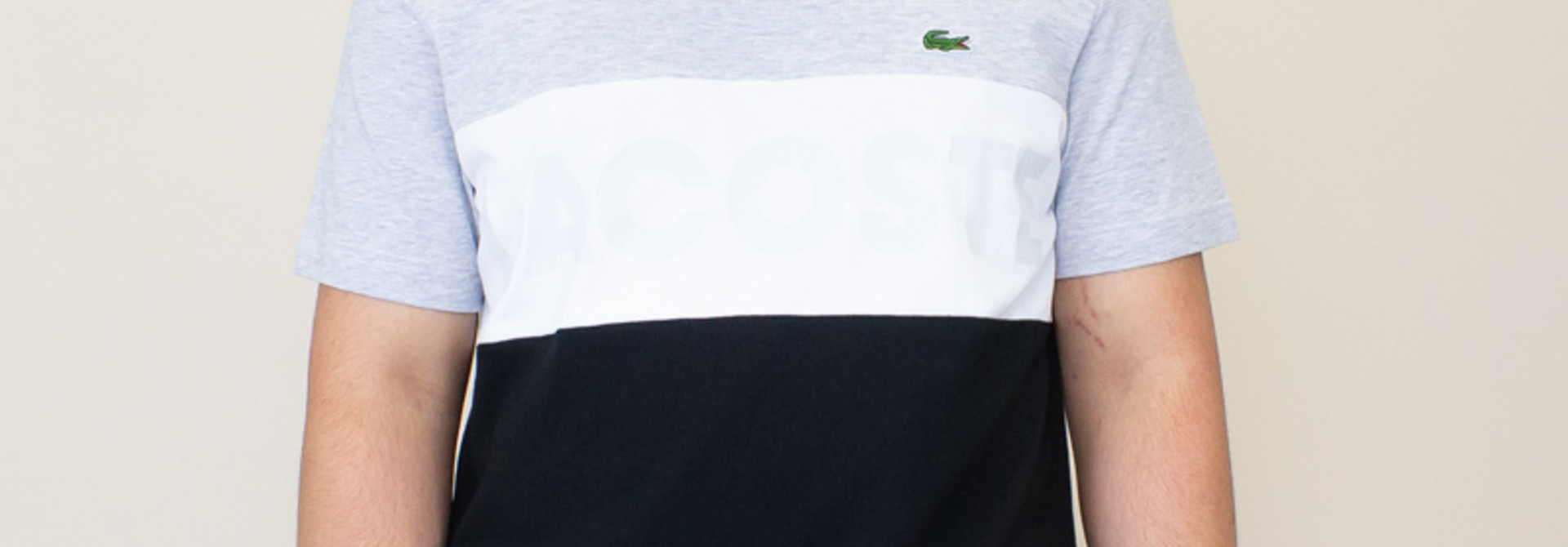 Lacoste Color-Blocked T - Shirt - Gray