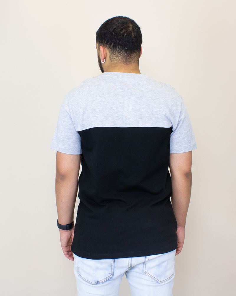 Lacoste Color-Blocked T - Shirt - Gray-2