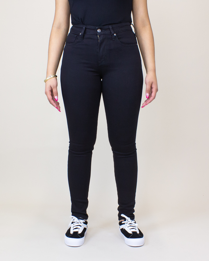 Levi's 721 High Rise Skinny Jeans - Soft Black-1
