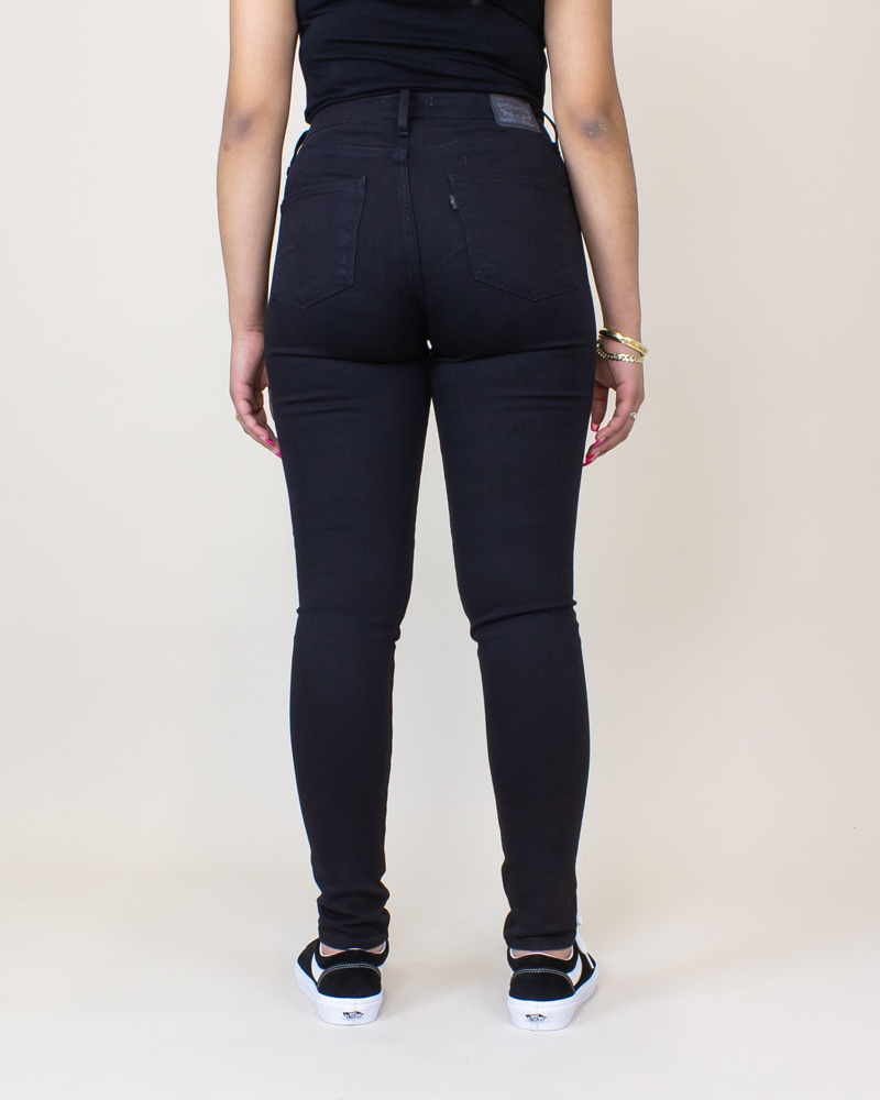 Levi's 721 High Rise Skinny Jeans - Soft Black-4