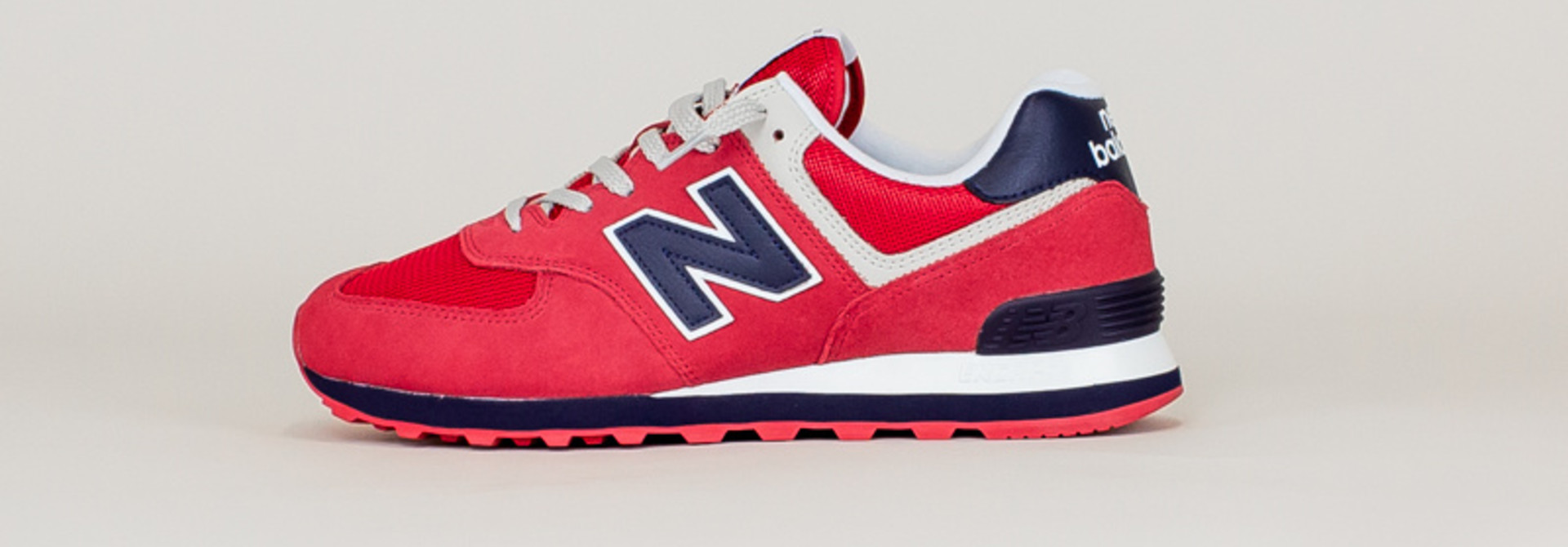 New Balance 574 MUE - Red/ Navy