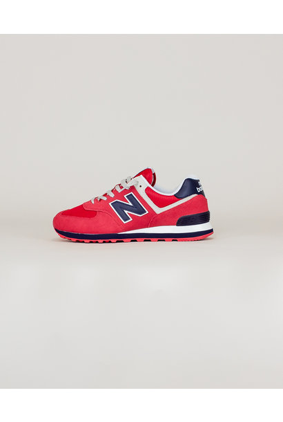 New Balance 574 MUE - Red/ Navy