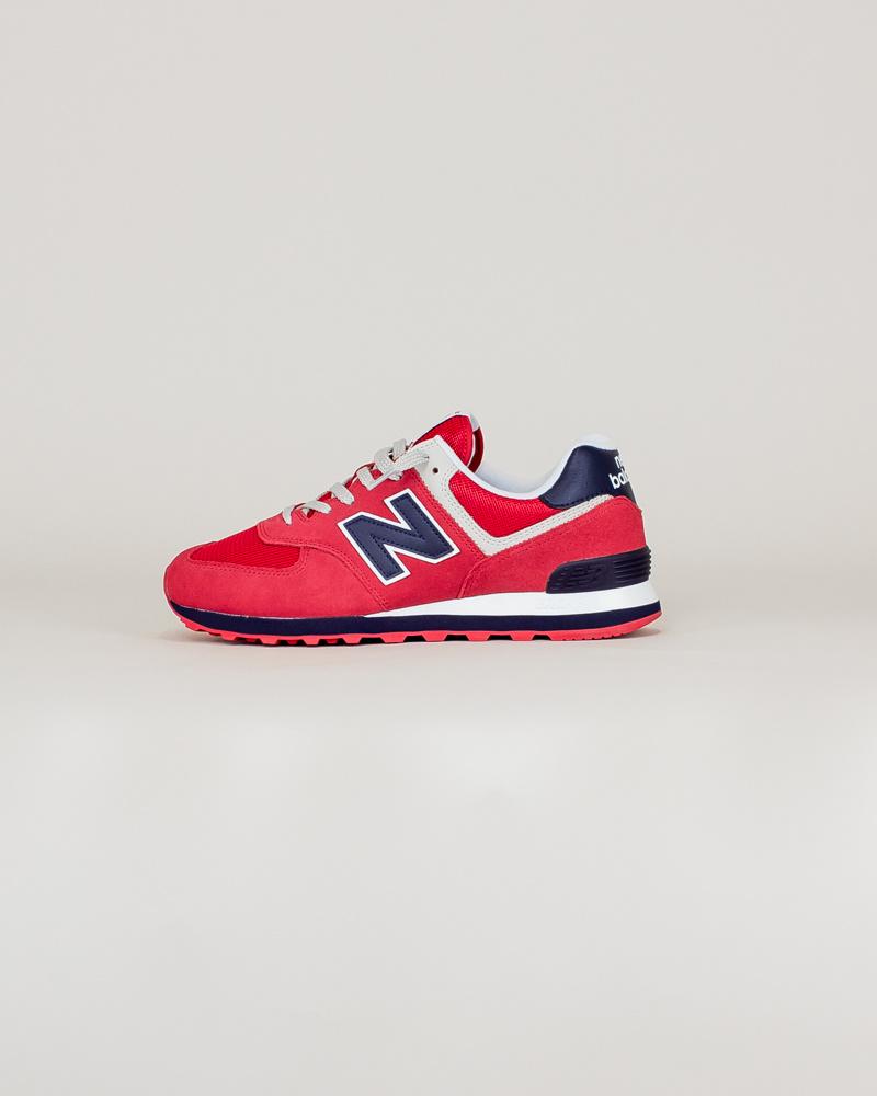 New Balance 574 MUE - Red/ Navy-1