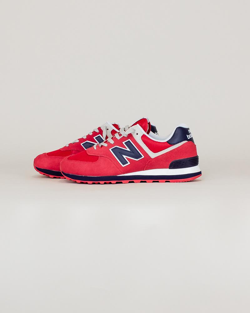New Balance 574 MUE - Red/ Navy-2
