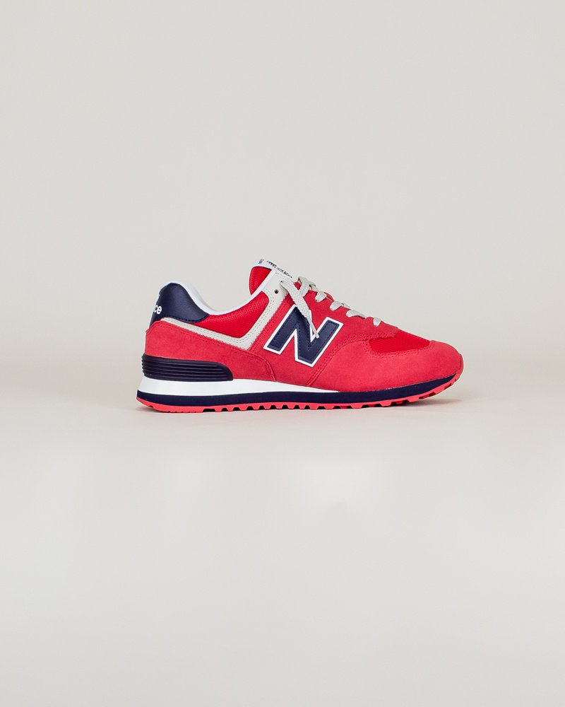 New Balance 574 MUE - Red/ Navy-4