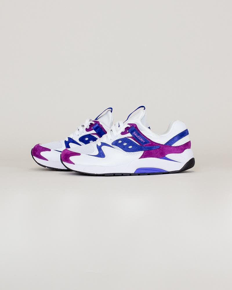 Saucony Grid 9000 - White/Purple/Violet-2