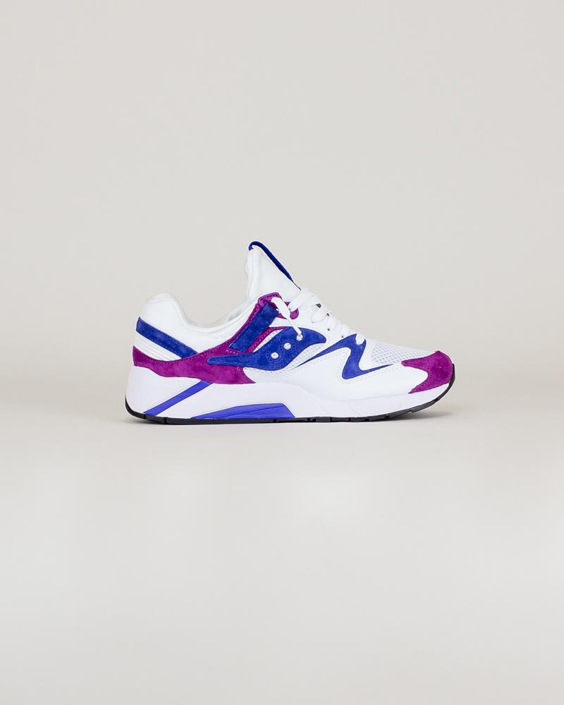 Saucony Grid 9000 - White/Purple/Violet-4