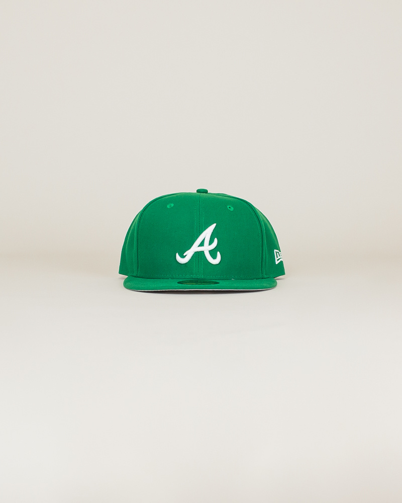 New Era Atlanta Braves Fitted Hat - Green-1