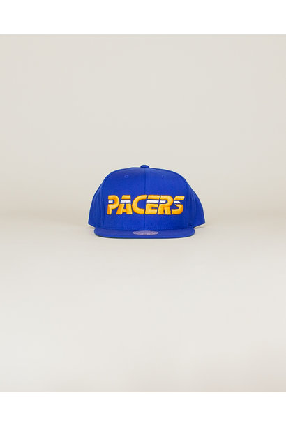 Mitchell & Ness Pacers Wool Solid Snapback Hat - Blue