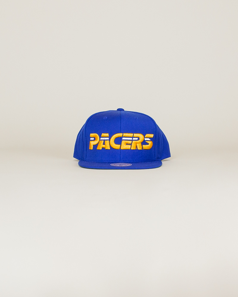 Mitchell & Ness Pacers Wool Solid Hat - Blue-1